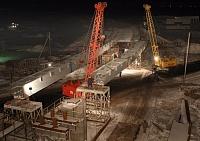 Санкт-Петербург, строительство транспортной развязки на участке КАД, в районе Таллинского шоссе.